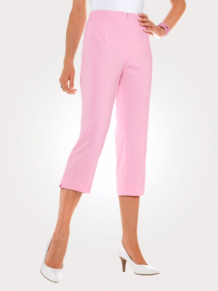 MONA 7/8 Hose mit Baumwolle Basic, Rosé