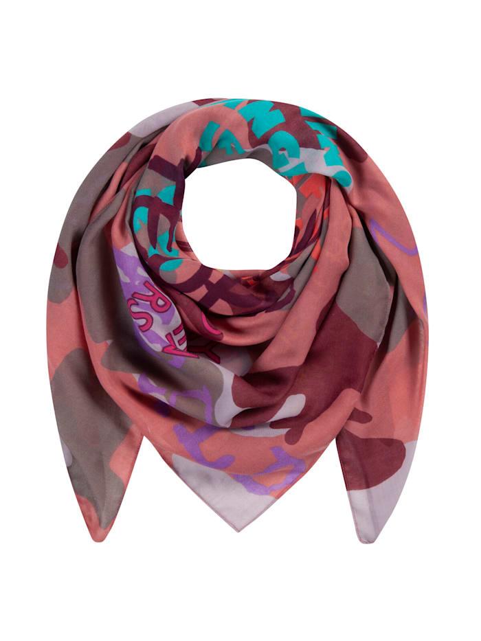 Codello Softweiches Tarnmuster-Tuch aus recyceltem Polyester, dark rose