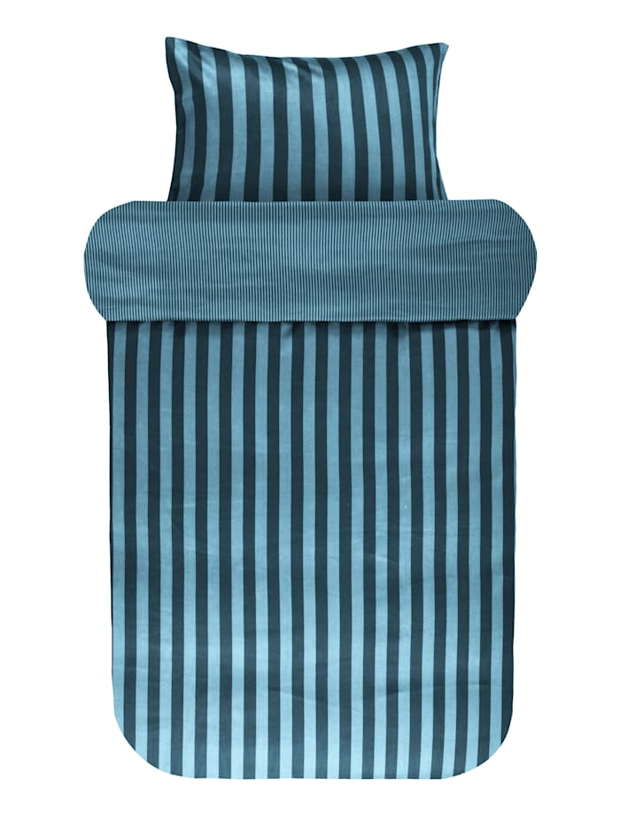 Marc O'Polo Satin Bettwäsche 'Classic Stripe', Deep blue