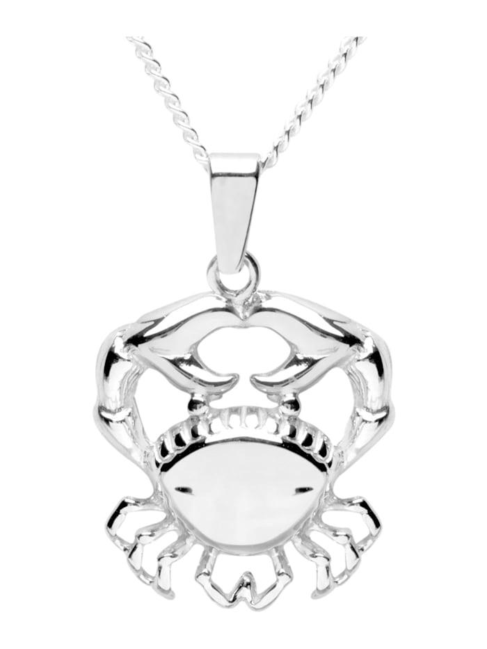 OSTSEE-SCHMUCK Kette mit Anhänger - Tierkreiszeichen Krebs - Silber 925/000 - ,, silber