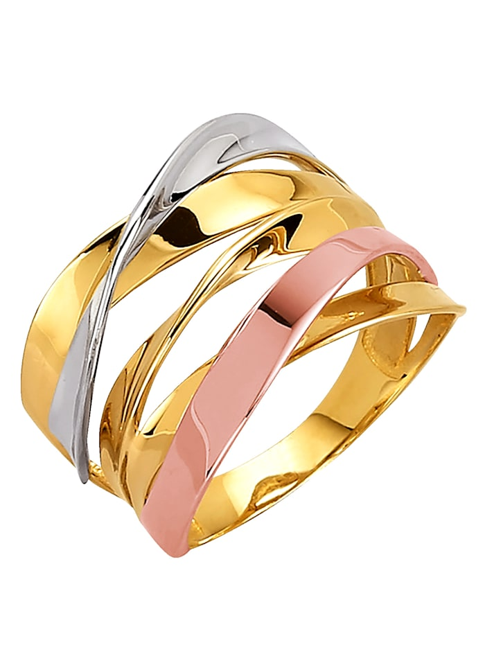 Diemer Gold Damenring in Gelbgold, Multicolor