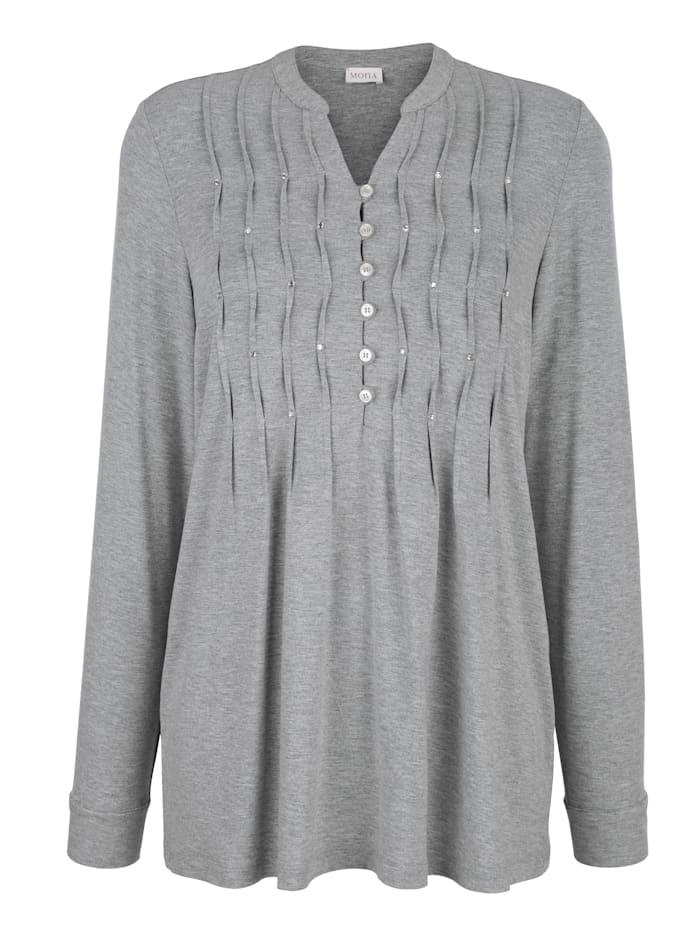 Shirt mit dekorativer Strassstein-Zier