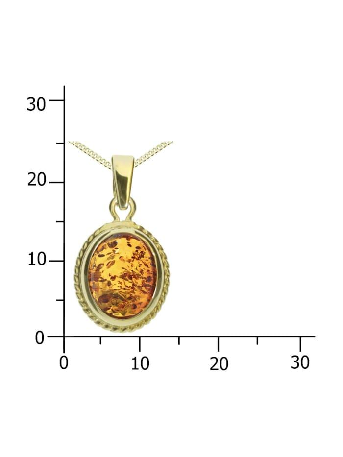 Kette mit Anhänger - Jolin - Gold 333/000 - Bernstein