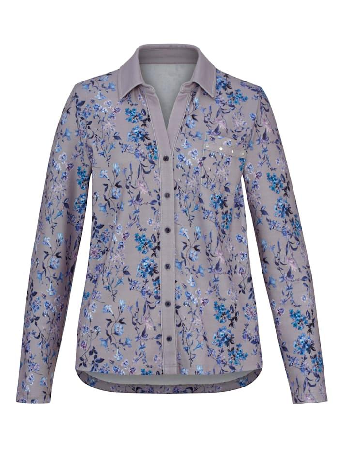 Shirtbluse mit floralem Druck