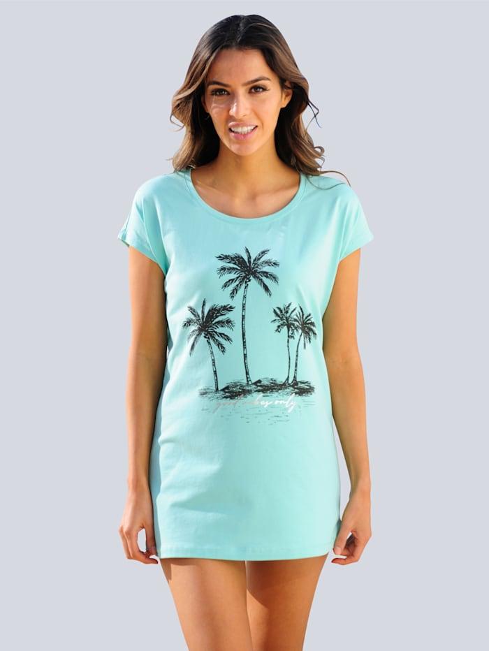 Alba Moda Strandshirt mit silbernem Akzent, Mintgrün