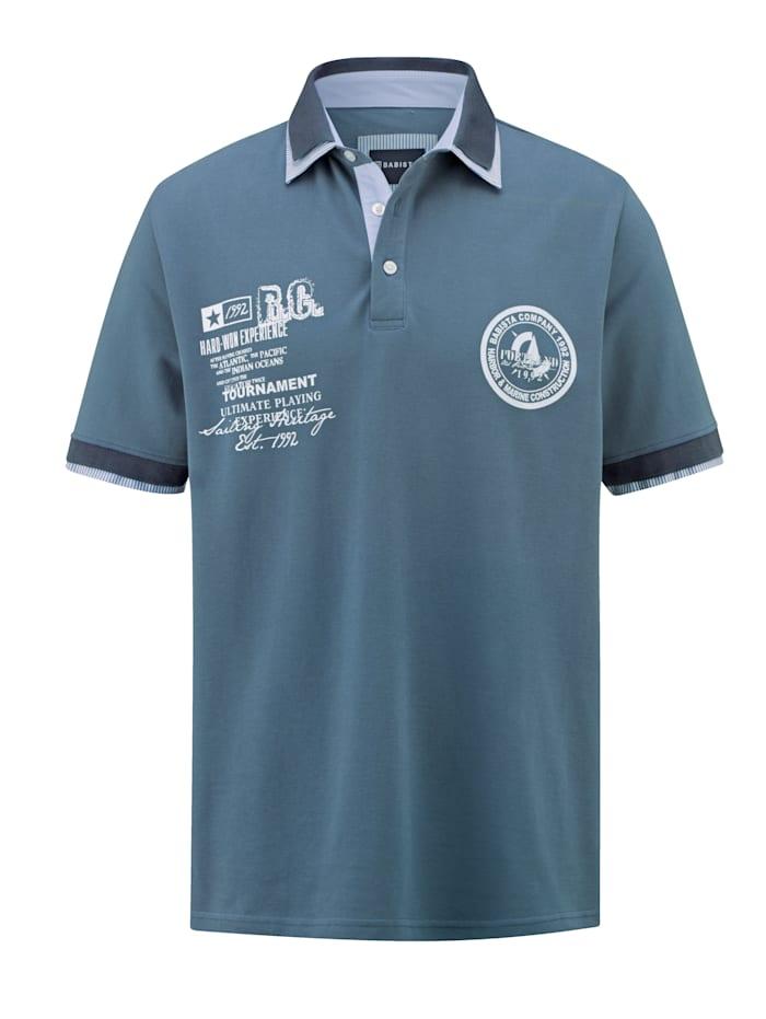 BABISTA Poloshirt mit platziertem Druck im Vorderteil, Blau