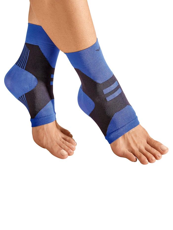 Fotledsbandage ett par, blå/svart