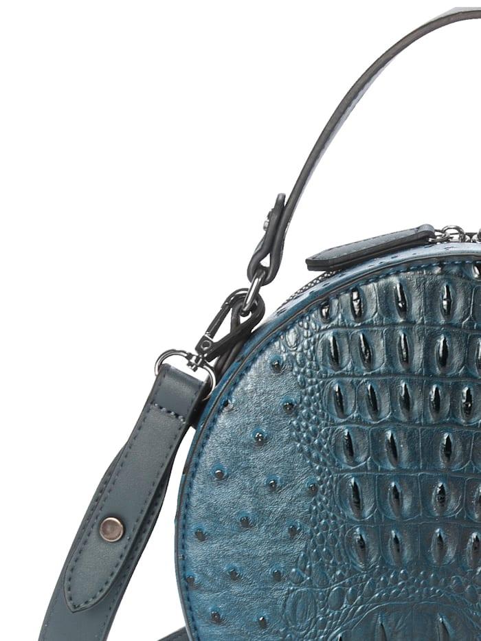 Handbag in an embossed finish
