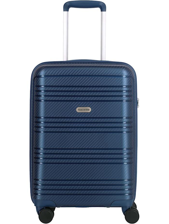 Travelite Zenit 4-Rollen Kabinentrolley 55 cm, blau