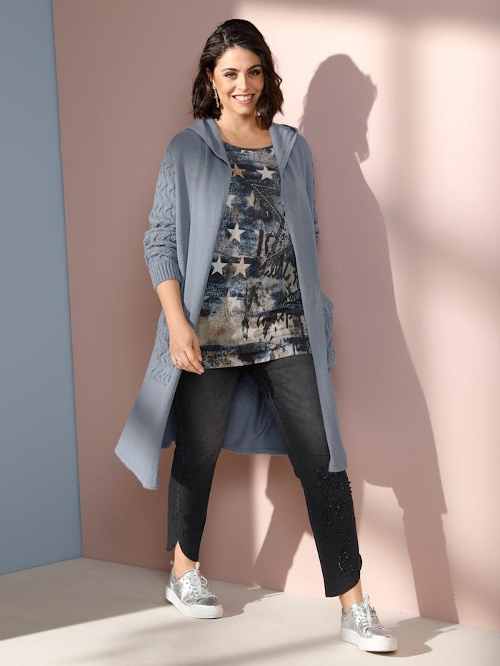 Jeans met versiering aan de zoom