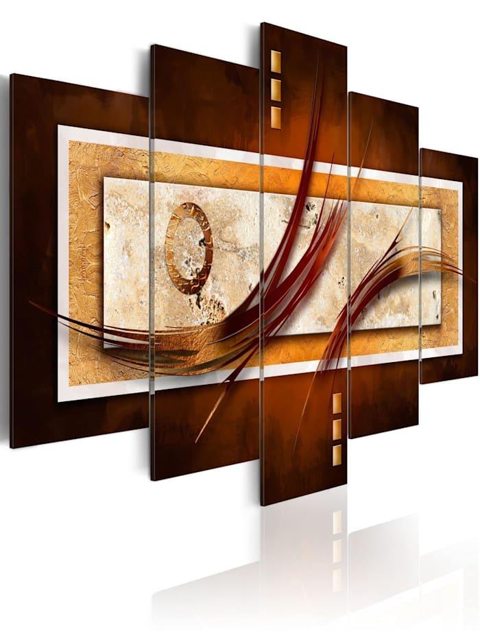 artgeist Wandbild Opalisierendes Braun, Weiß,Braun,Beige