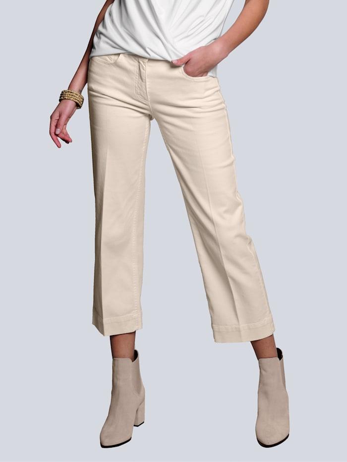 Alba Moda Jeansculotte van comfortabel elastisch materiaal, Offwhite