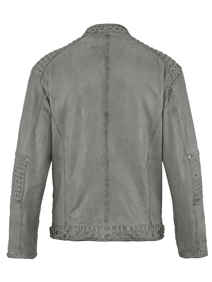 Leren jas in bikerstyle