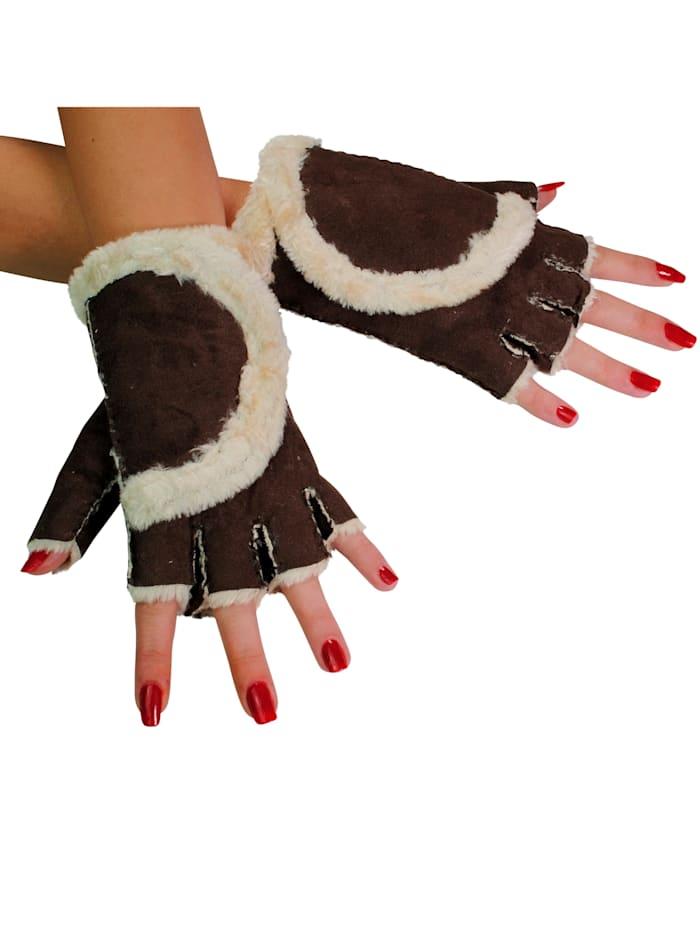 Handschuhe 2 Paar A3367 2 Paar fingerlose Handschuhe - besonders kuschelig