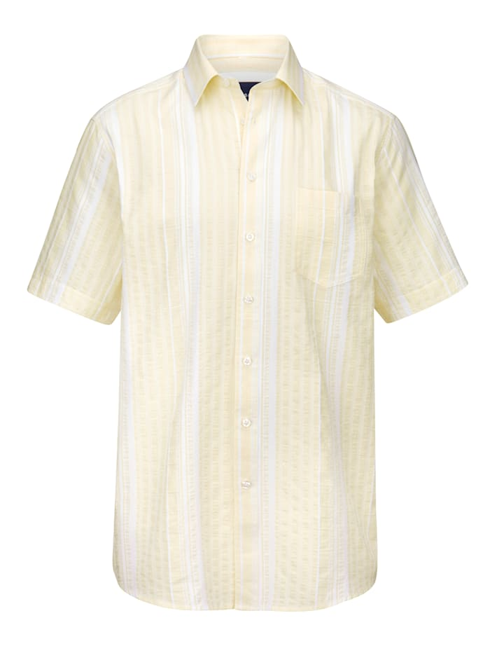 BABISTA Overhemd met ingeweven streepdessin, Lichtgeel
