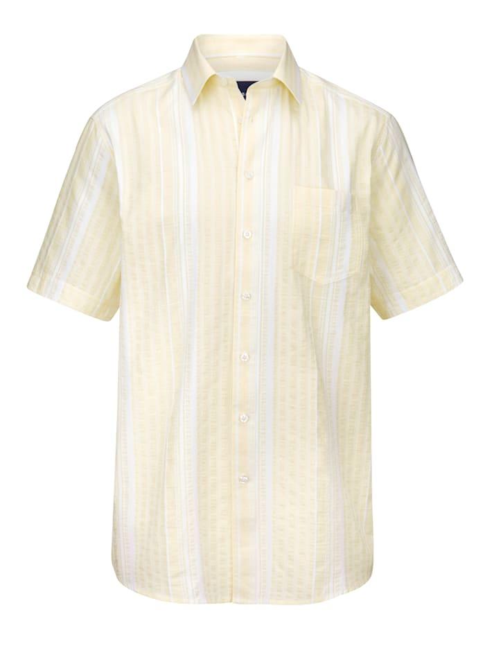 BABISTA Seersuckerhemd mit garngefärbtem Streifenmuster, Hellgelb