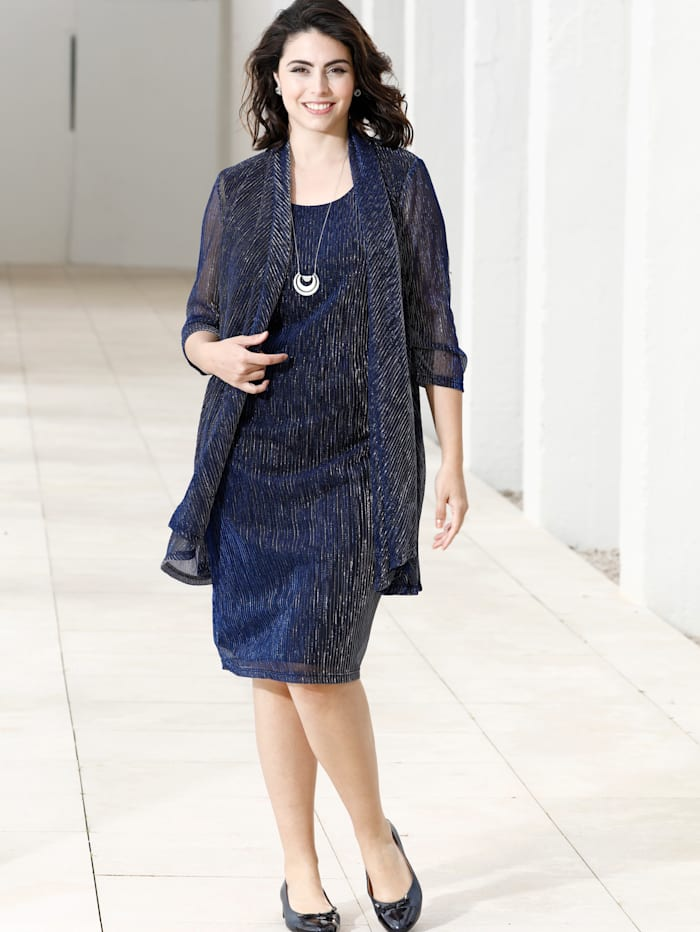 m. collection Jurk in 2-in-1-look, Marine
