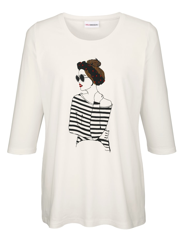 Shirt mit femininem Druckmotiv