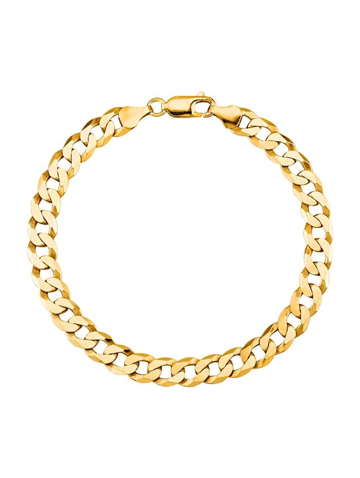 Bracelet maille gourmette en argent 925, Coloris or jaune
