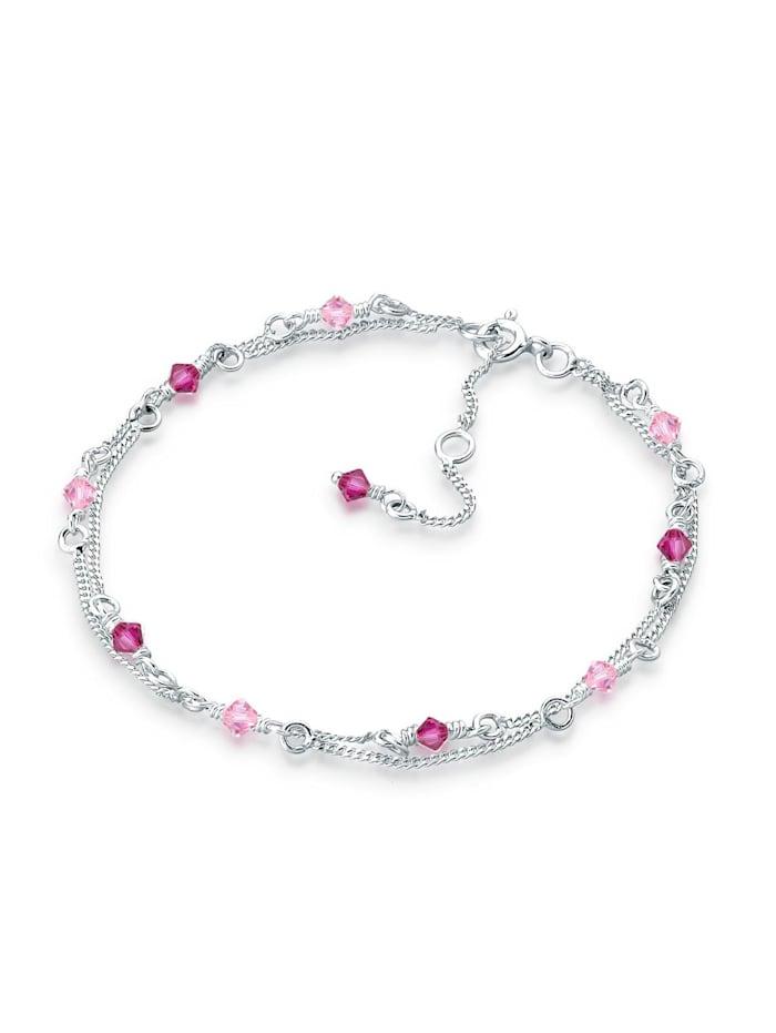 Elli Armband Swarovski Kristalle 925 Sterling Silber, Rosa