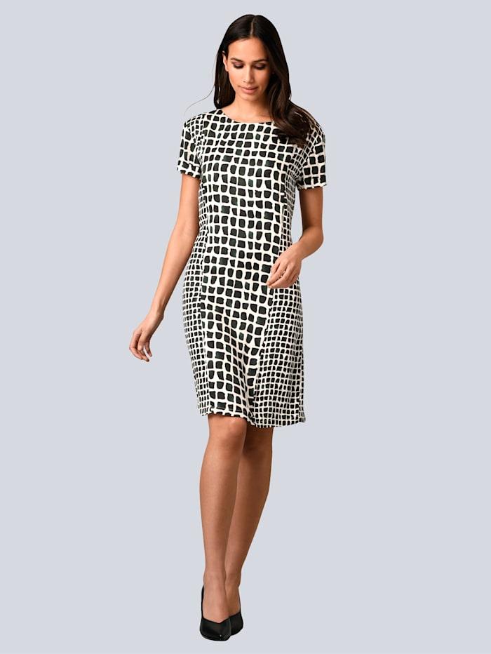 Alba Moda Kleid mit leichtem Glanz, Grün/Weiß