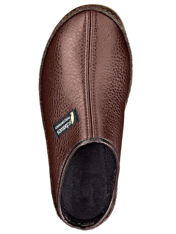 Pantoffel mit abriebfester Sohle