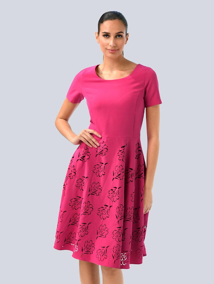 Alba Moda Princesskleid mit floralen Cut-Outs im Rock, Pink