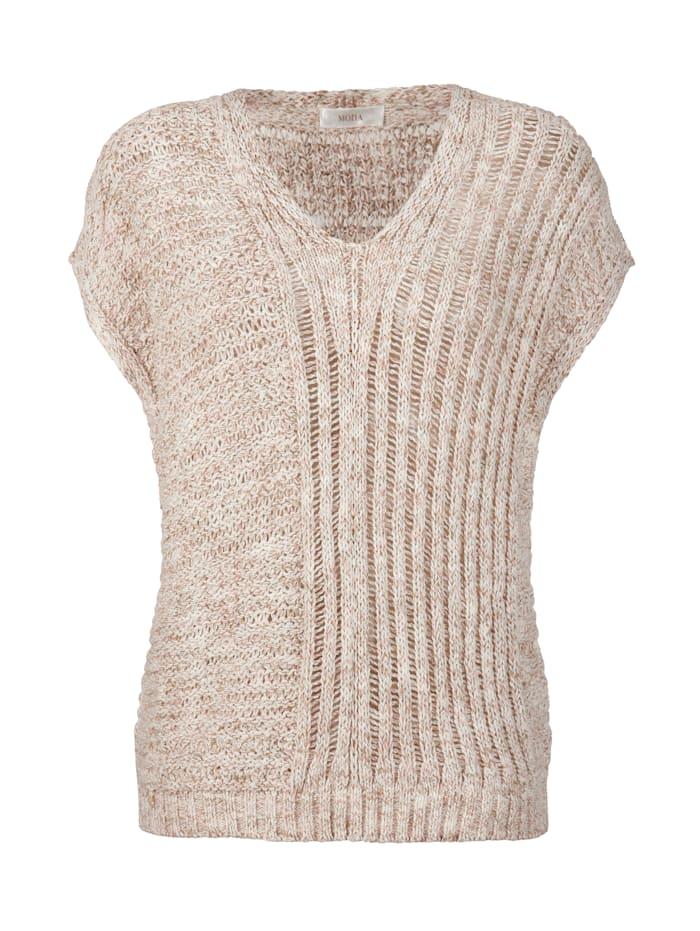 Pullover aus effektvollem Melange-Garn