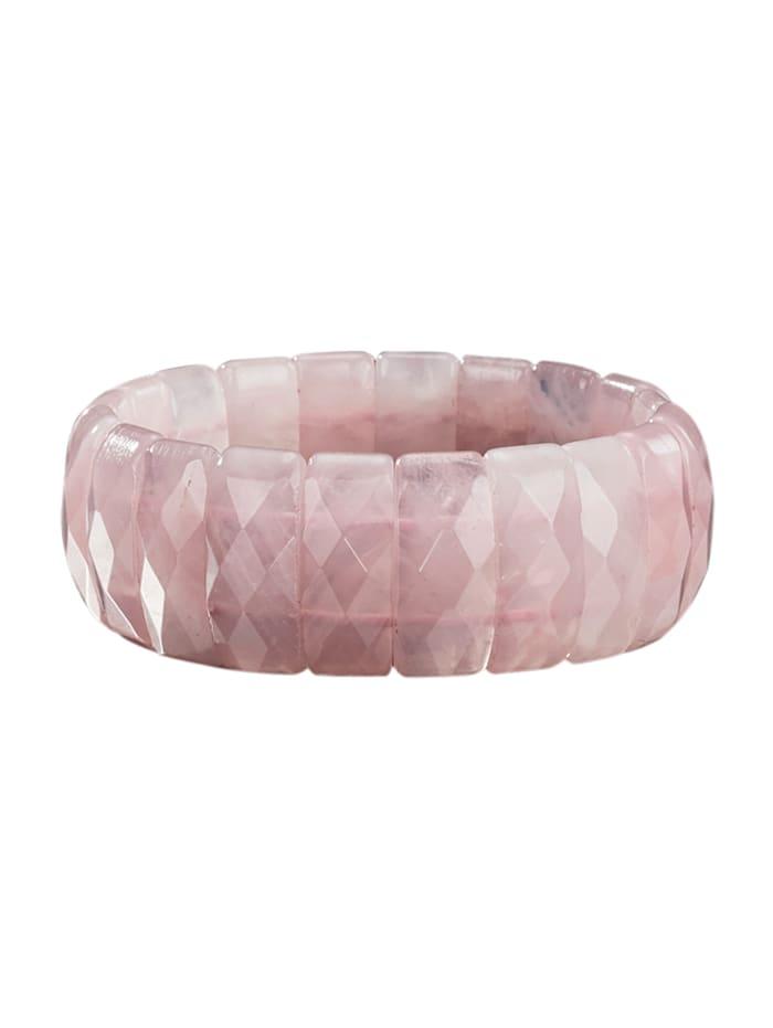 Armband aus Rosenquarz, Rosé