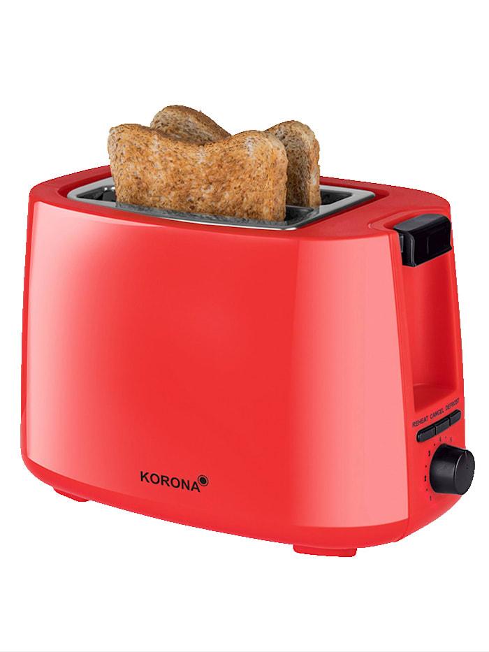 Korona Automatik-Toaster 21133, für 2 Brotscheiben, rot, rot