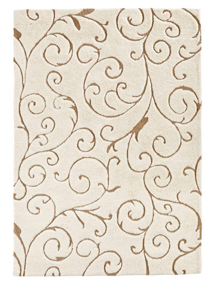 Webschatz Handtuftteppich 'Kanja', Beige