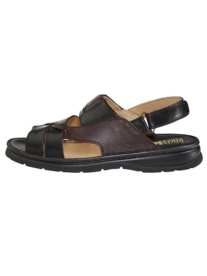 Sandály v harmonické barevné kombinaci