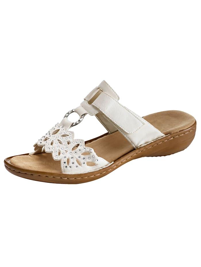 Rieker Nazouvací obuv, Bílá