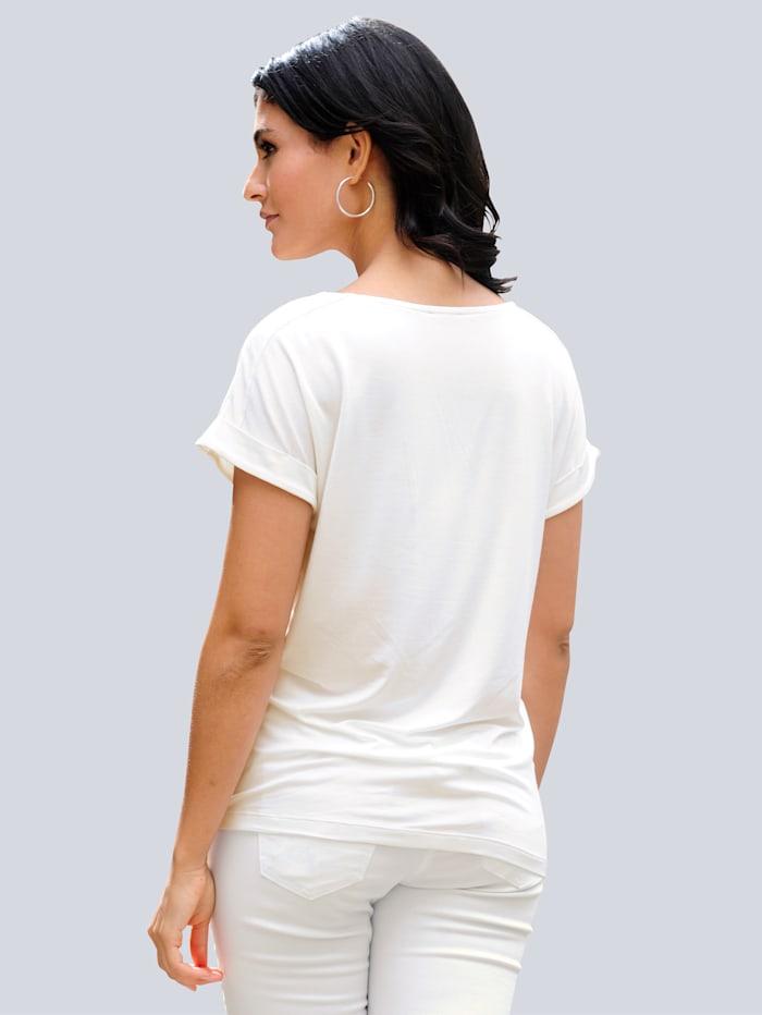 Shirt met exclusieve Alba Moda print