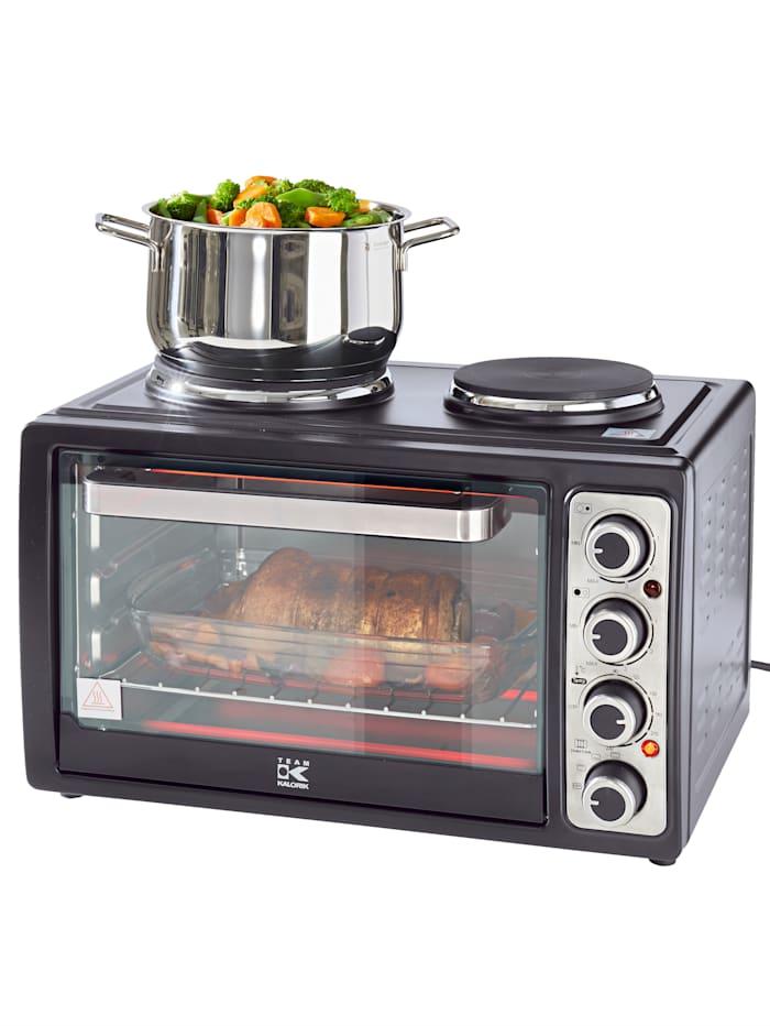 Kalorik Kleinküche mit Kochplatten, schwarz