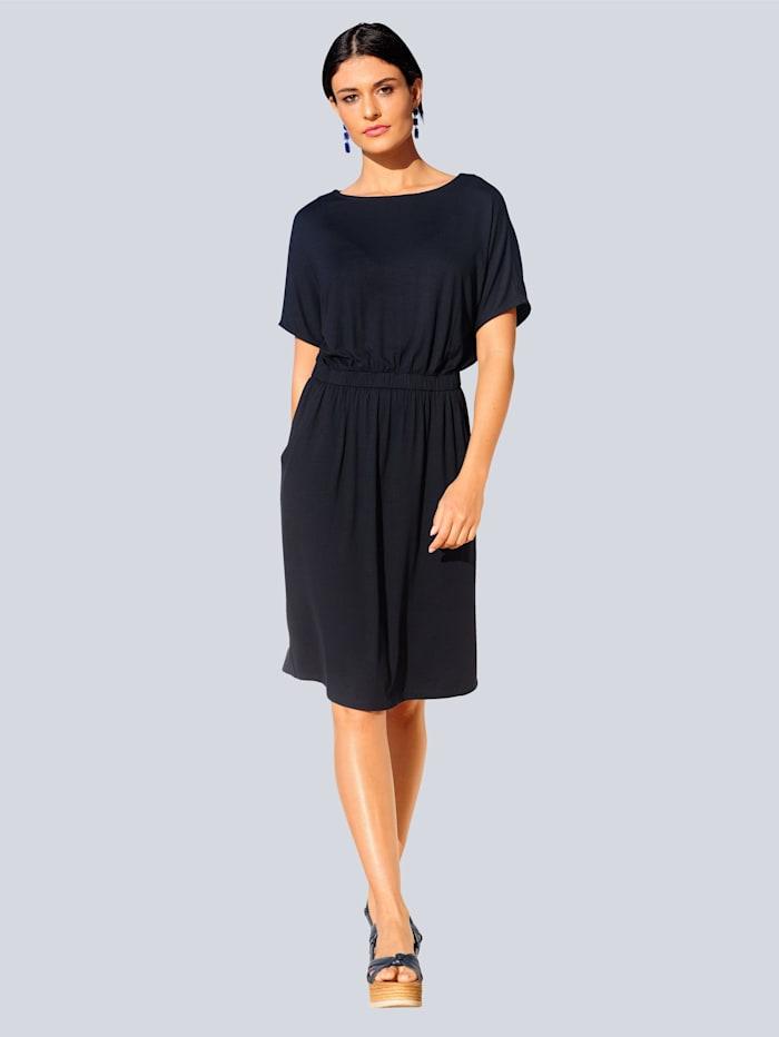 Alba Moda Jerseykleid in sehr elastischer Qualität, Marineblau