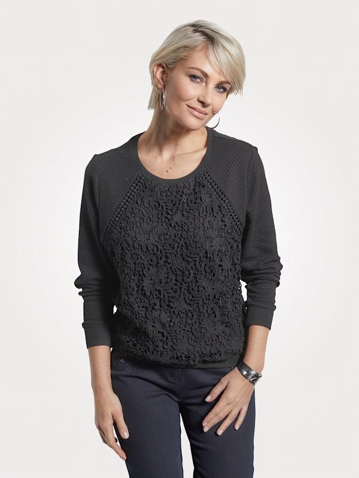Sweatshirt met dubbellaags kant