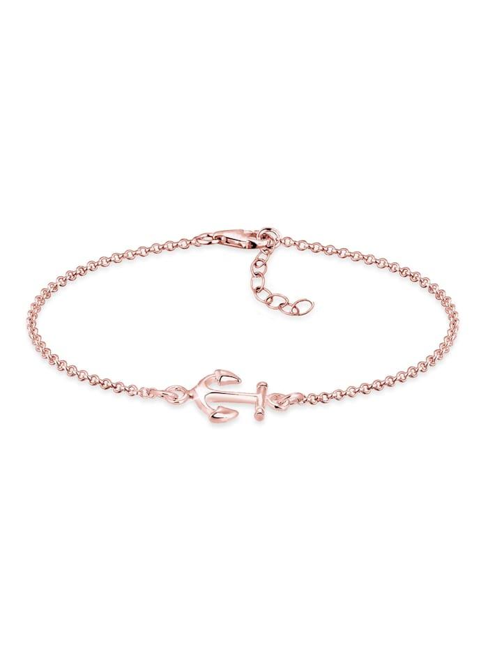 Elli Armband Anker Maritim Segler Trend Symbol 925 Silber, Rosegold