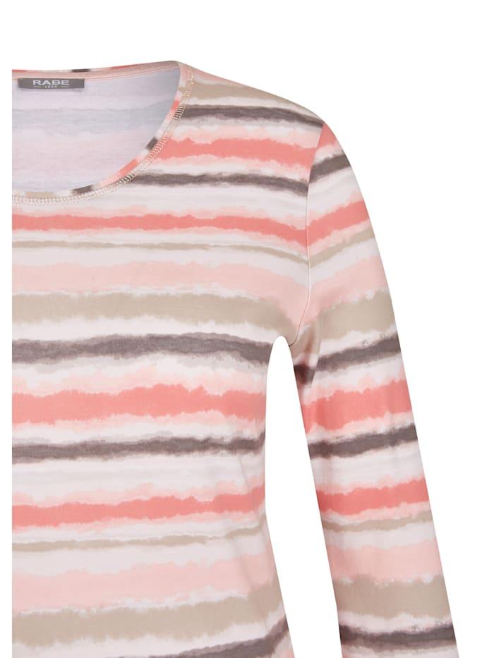 Rundhalsshirt mit Allover-Muster