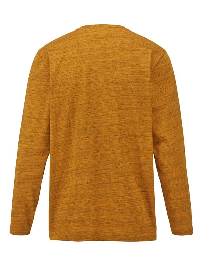 Henleyshirt aus pflegeleichter Baumwoll-Mischung