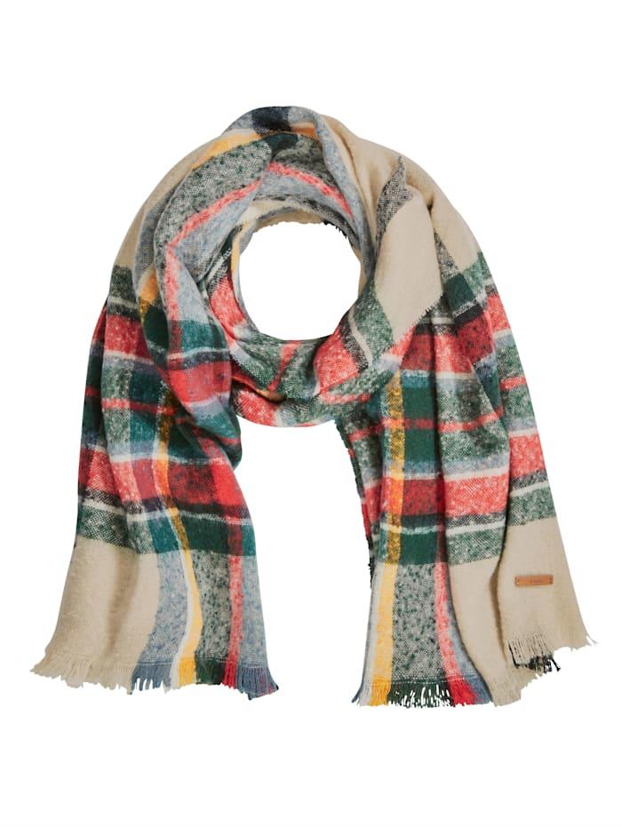Barts Schal, grün-rot-weiß