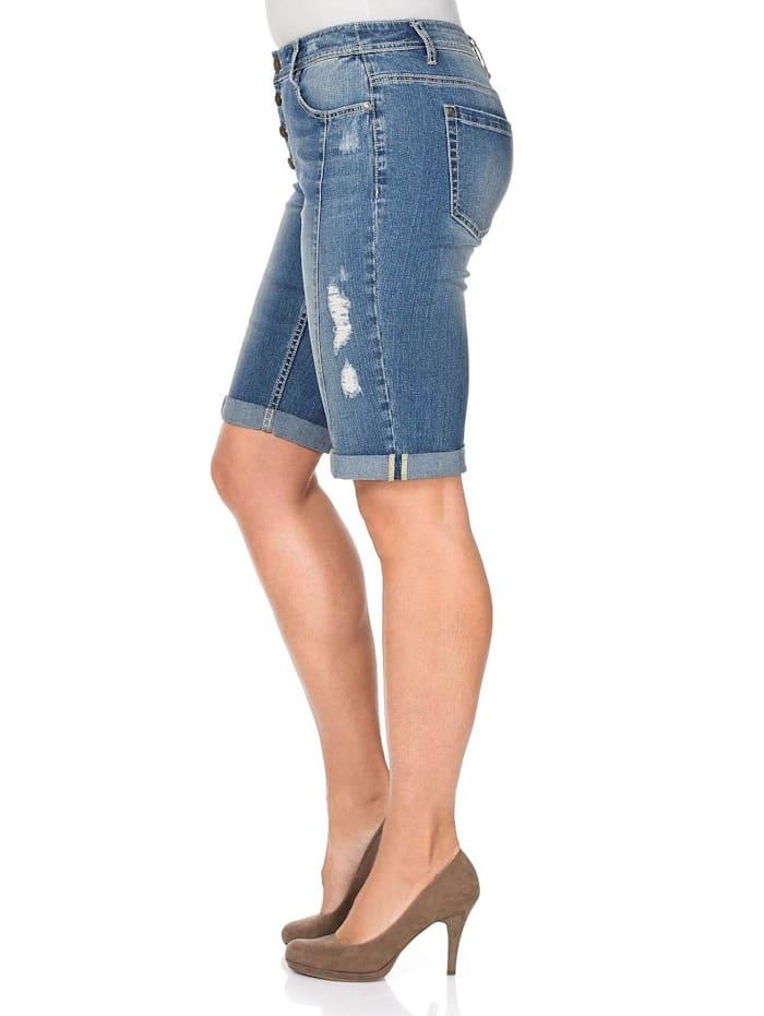 Sheego Jeans-Bermudas