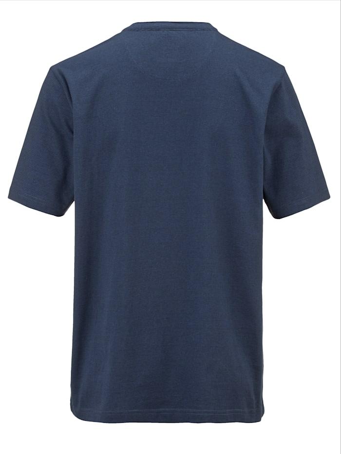 Henleyshirt mit feinem Streifendessin