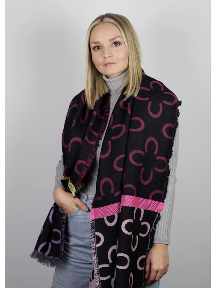 Logo-Schal mit Baumwolle und Wolle
