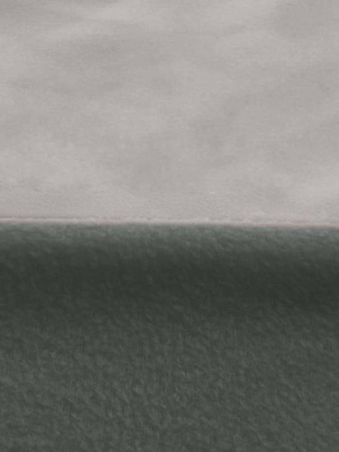 """Parure de lit 2 pièces en microfibre """"UNI"""", réversible"""