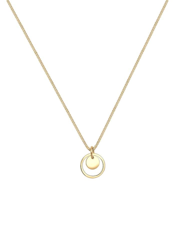 Halskette Kreis Rund Geo Trend 925 Sterling Silber