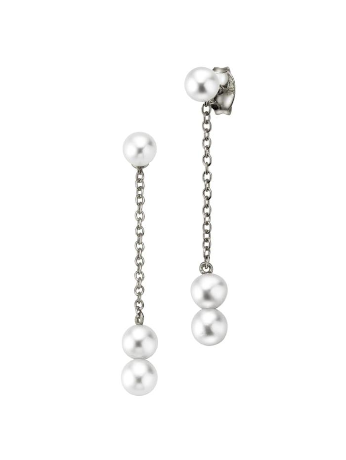 CAI Ohrhänger 925/- Sterling Silber weiß 3,3cm Glänzend 925/- Sterling Silber, weiß