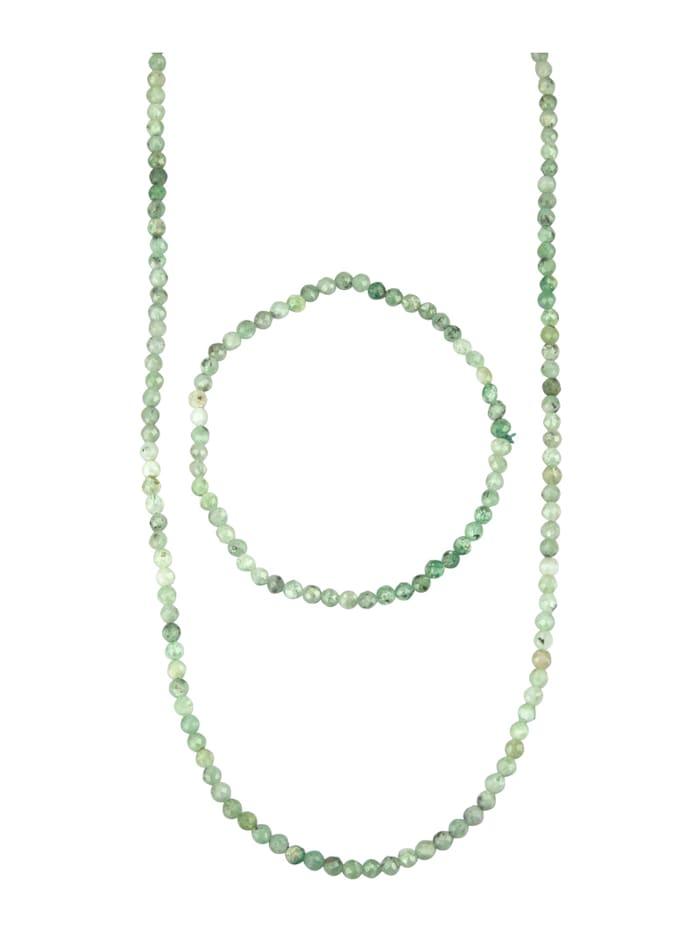 Smaragdikaulakoru ja -rannekoru, Vihreä