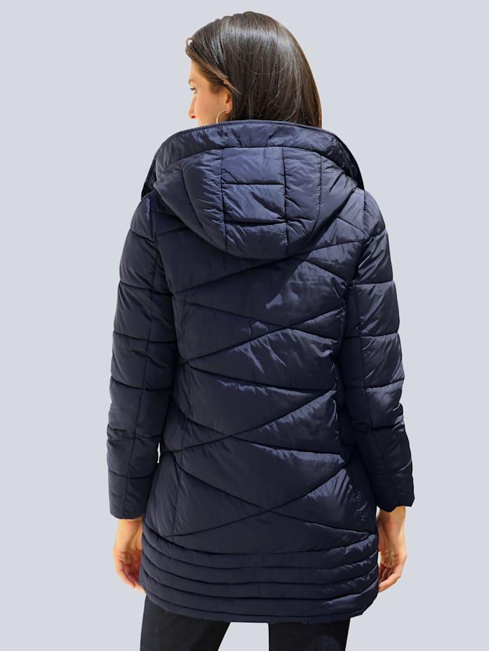 Alba Moda Mantel mit modischem Steppmuster, Marineblau