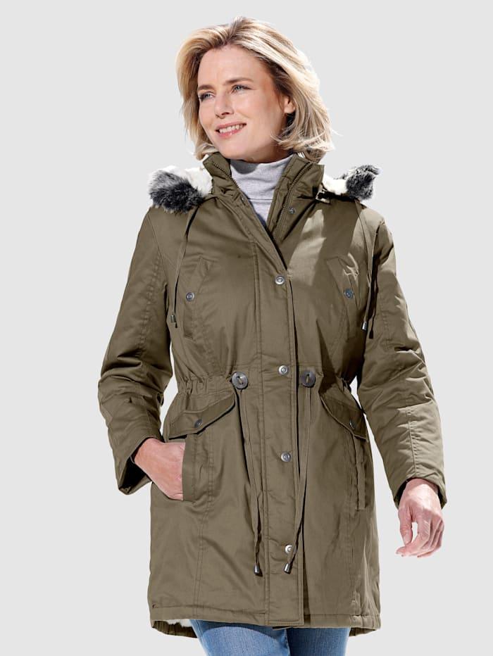 Dress In Jacka med fluffig insida, khaki